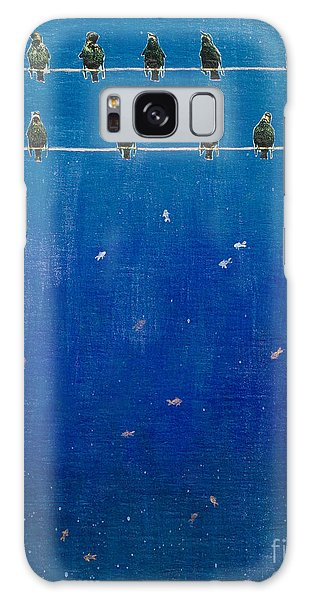 Birds And Fish Galaxy Case by Stefanie Forck