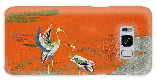 Birds At Sunset On The Lake Galaxy Case