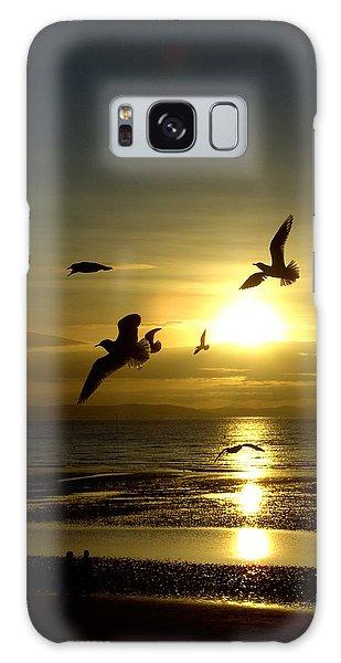 Birds Gathering At Sunset Galaxy Case