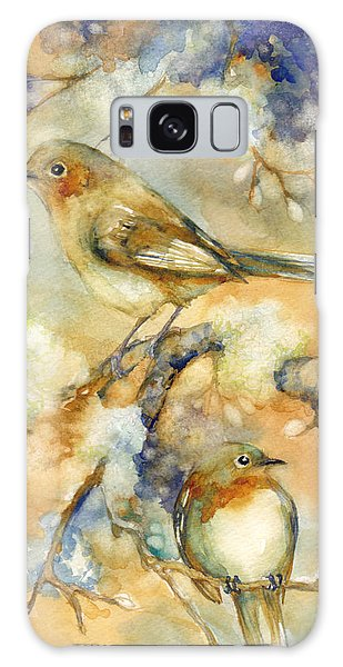 Song Birds Galaxy Case - Birds In Mossy Branches by Peggy Wilson