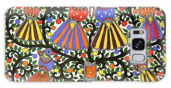 Birds-madhubani Painting Galaxy Case