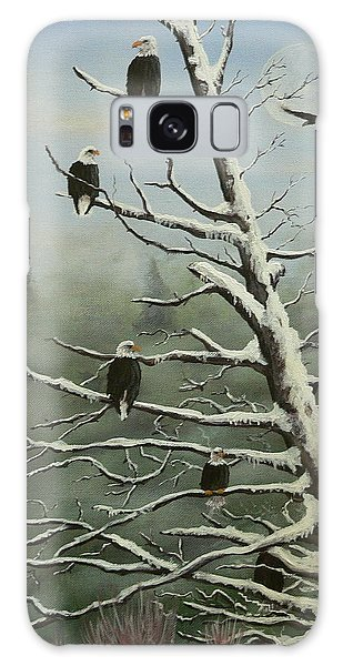 Birds Of A Feather... Galaxy Case by Dan Wagner