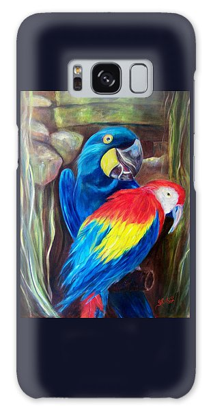 Bird's Of A Feather, Macaws Galaxy Case