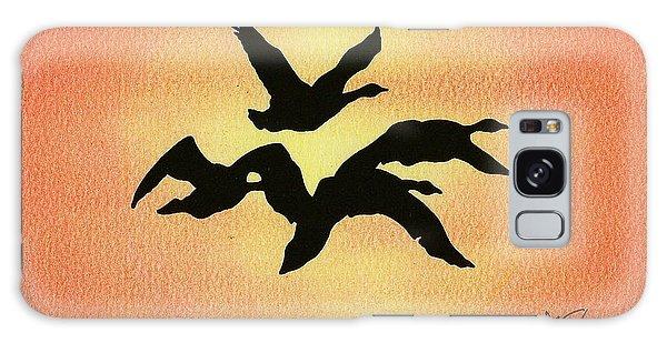 Birds Of Flight Galaxy Case by Troy Levesque