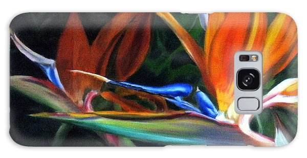 Birds Of Paradise Galaxy Case by LaVonne Hand