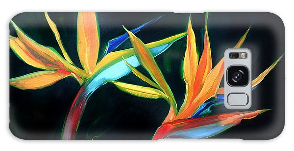 Birds Of Paradise Galaxy Case by Shelley Overton