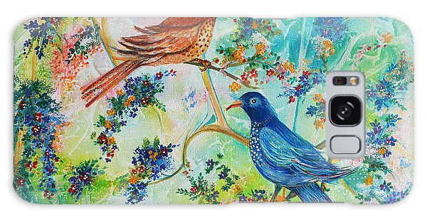 Birds Of Spring Galaxy Case