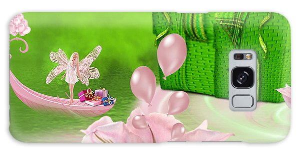 Birthday Fairy Goes To Work - Fantasy Art By Giada Rossi Galaxy Case