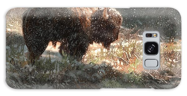 Bison In The Snow Galaxy Case