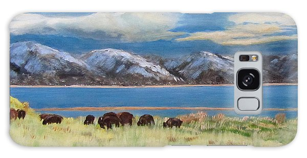 Bison On Antelope Island Galaxy Case