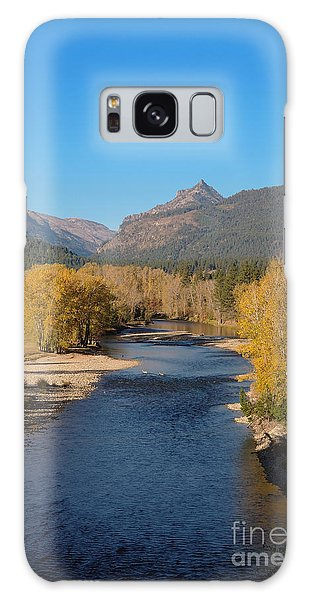 Bitterroot River Fall Galaxy Case