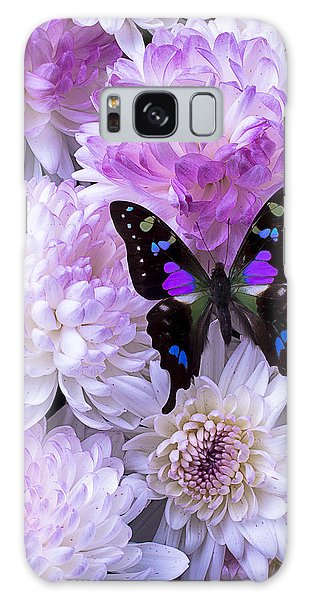 Black And Purple Butterfly On Mums Galaxy Case