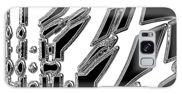 Black And White Abstract 2 Galaxy Case