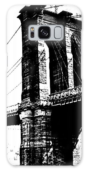 Black And White Abstract City Photography...brooklyn Bridge Galaxy Case by Amy Giacomelli