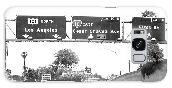 Black And White Abstract City Photography...l.a. Freeway Galaxy Case by Amy Giacomelli