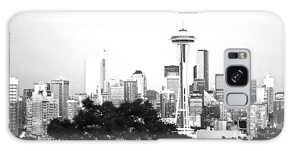 Black And White Abstract City Photography...seattle Space Needle Galaxy Case by Amy Giacomelli