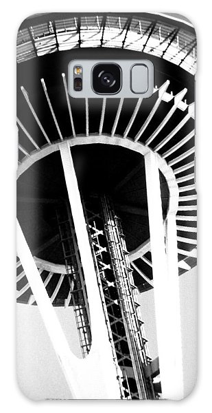 Black And White Abstract City Photography...space Needle Galaxy Case by Amy Giacomelli