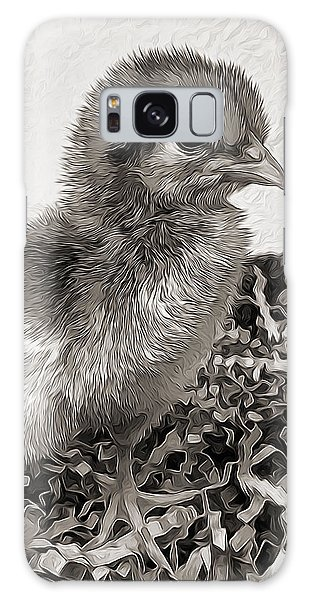 Black And White Baby Chicken Galaxy Case