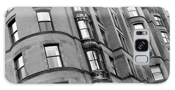Black And White Building Facade Galaxy Case
