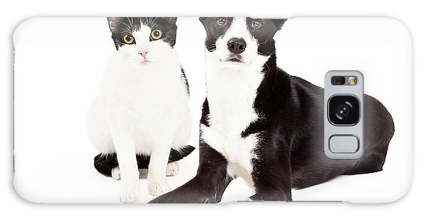 Black And White Cat And Dog Galaxy Case