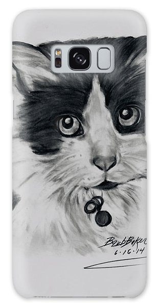 Black And White Cat Galaxy Case by Barb Baker