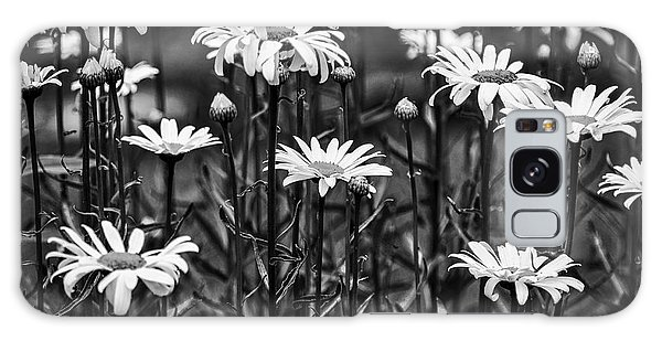 Black And White Daisies Galaxy Case