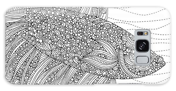 Colours Galaxy Case - Black And White Fish by MGL Meiklejohn Graphics Licensing