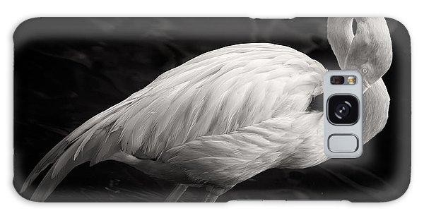 Black And White Flamingo Galaxy Case