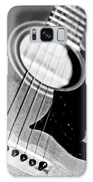 Black And White Harmony Guitar Galaxy Case by Athena Mckinzie