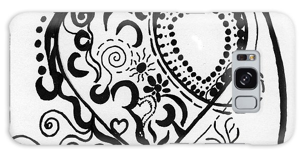 Black And White Heart Galaxy Case by Christine Perry
