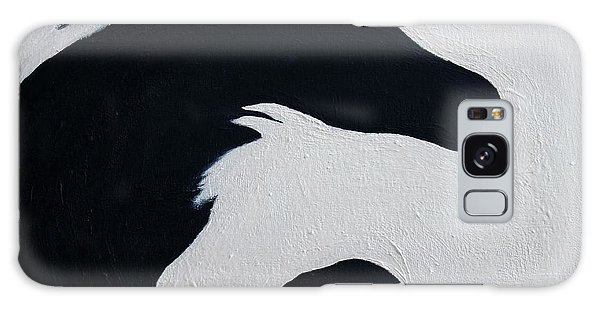 Black And White Horses Together Forever Galaxy Case
