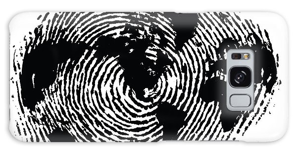 black and white ink print poster One of a Kind Global Fingerprint Galaxy Case