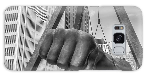 Black And White Joe Louis Fist And Flag Galaxy Case