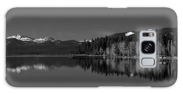 Black And White Lake Tahoe Reflection Galaxy Case