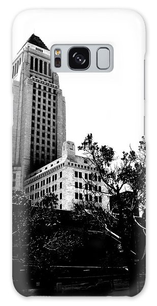 Black And White Los Angeles Abstract City Photography...la City Hall Galaxy Case by Amy Giacomelli