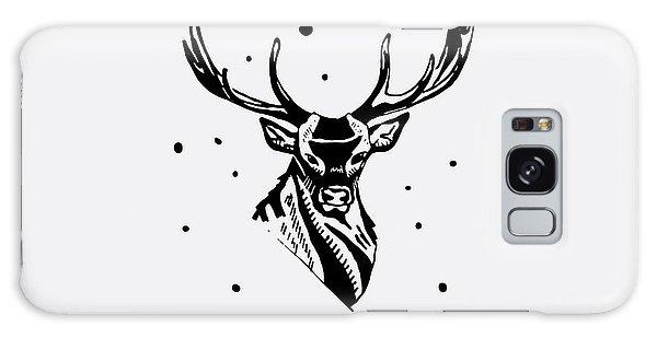 T-shirts Galaxy Case - Black And White Monochrome Emblem by Kbibibi
