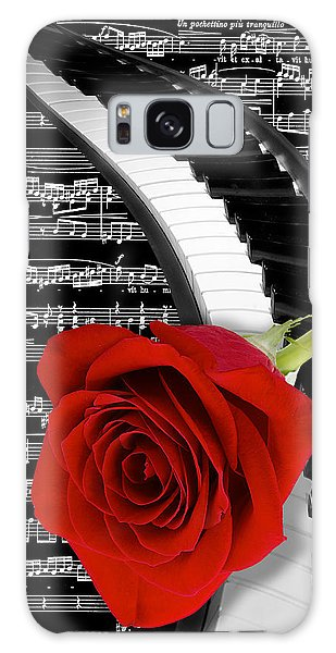 Black And White Music Collage Galaxy Case