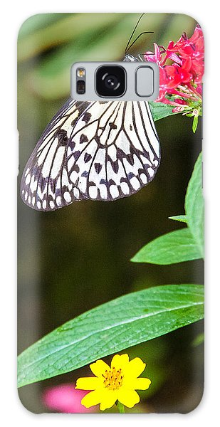 Black And White On Penta Galaxy Case by Karen Stephenson