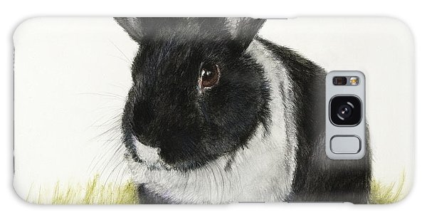 Black And White Pet Rabbit Galaxy Case by Kate Sumners