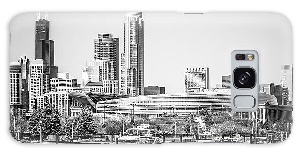 Black And White Picture Of Chicago Skyline Galaxy Case by Paul Velgos