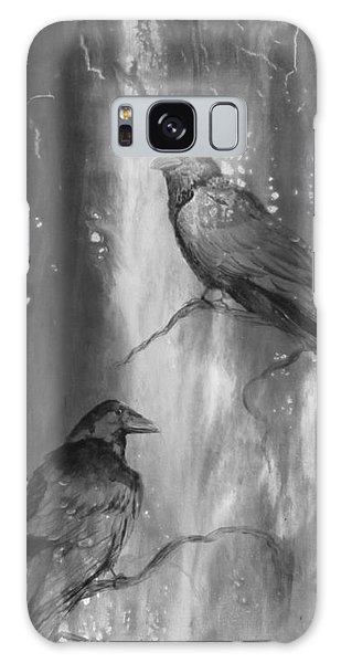 Black And White Ravens Galaxy Case