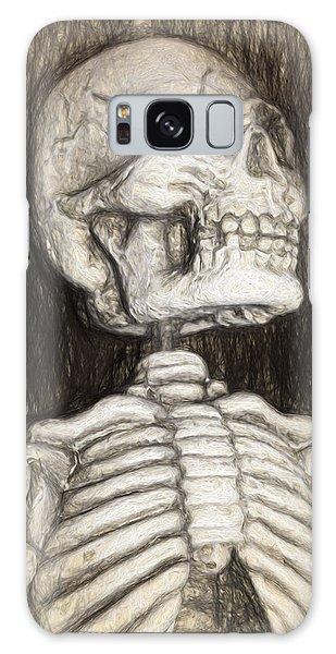 Black And White Skeleton Galaxy Case