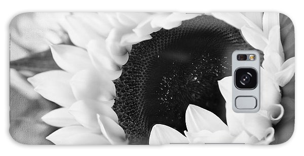 Black And White Sunflower Galaxy Case by Eden Baed