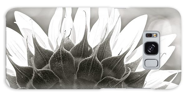 Black And White Sunflower Galaxy Case