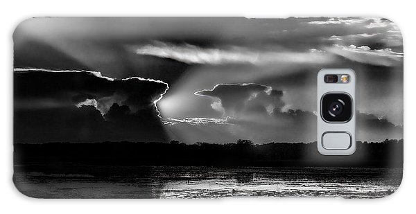 Black And White Sunset Over The Mead Wildlife Area Galaxy Case