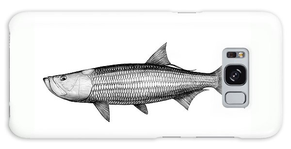 Black And White Tarpon Galaxy Case