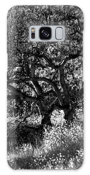 Black And White Trees Galaxy Case