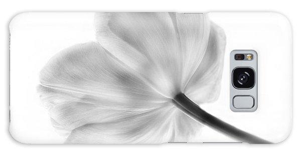 Black And White Tulip Galaxy Case