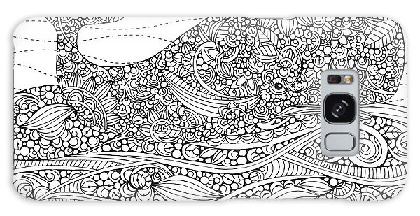 Colours Galaxy Case - Black And White Whale by MGL Meiklejohn Graphics Licensing