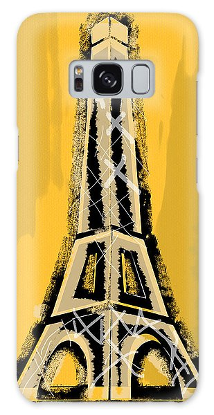 Black And Yellow Eiffel Tower Paris Galaxy Case
